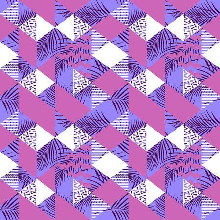 Illustration pour Feminine geometric triangle abstract seamless pattern - image libre de droit
