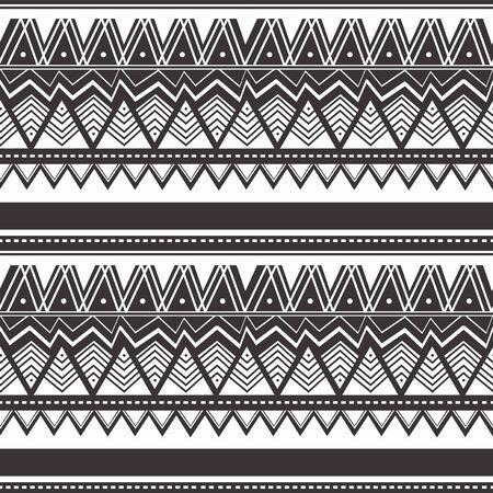 Illustration pour Seamless vintage pattern with Ethnic and tribal motifs. Colorful design Maori style design. Vector illustration. - image libre de droit