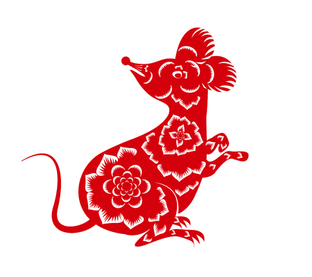 Illustration pour Happy New Chinese Year 2020 year of the Rat - year of the mouse - image libre de droit
