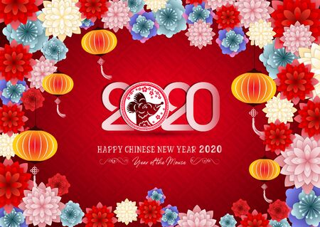 Photo for Happy New Chinese Year 2020 year of the Rat - year of the mouse - Royalty Free Image