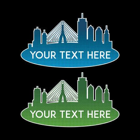 Illustration for banner set, text box, title box, speech text, speech title, frame text, frame title, text border, title border - Royalty Free Image