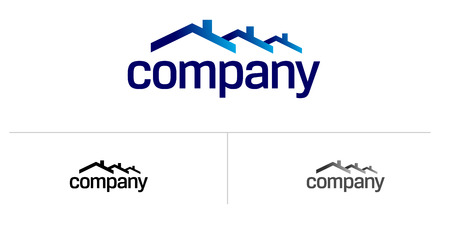 House roof logo for real estate company