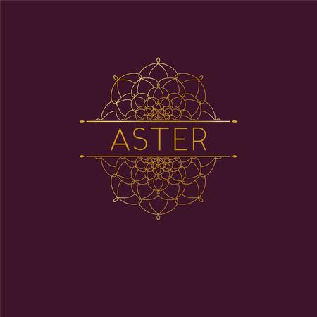 Illustration pour Abstract flower logo icon design. Elegant Golden Daisy  symbol. Template for creating unique luxury design, logo. Universal premium vector sign. Stock vector - image libre de droit