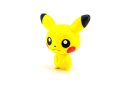 Bangkok, Thailand - July 31, 2014: Pikachu figure character from the Pokemon japanes cartoon animation.