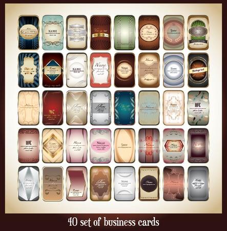 40 set of business card design