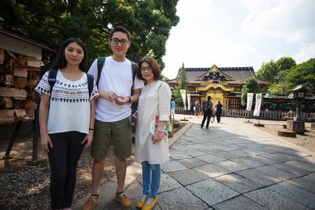 NIKKO, JAPAN - AUG 15, 2015 : People visit Tosho-gu Shrine on AUG 15, 2015 in Nikko, Japan.