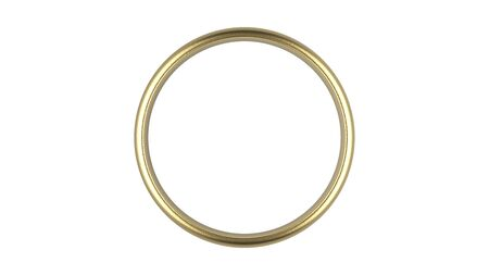 Photo pour The 3d rendering abstract luxury golden ring on white background - image libre de droit
