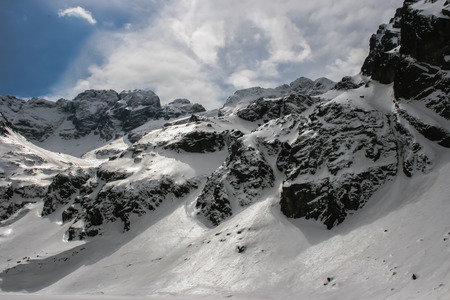 Beautifully snowy Polish Tatras