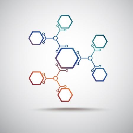 Illustration pour connected by a colored cell  Vector Graphics - image libre de droit