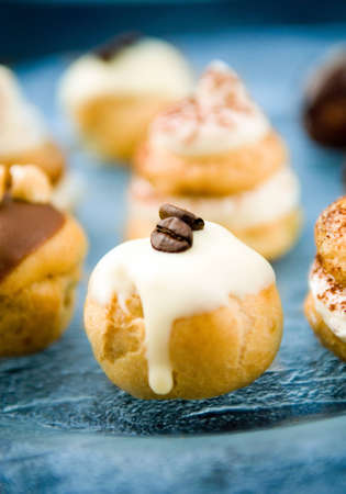 A Variety of Freshly Baked Cream Puffs