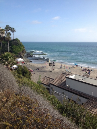 A world famous skim boarding beach.  Aliso Viejo California.