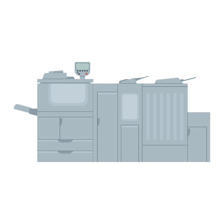 Vector laser printer. Digital print machine design. Color copy and printing equipment. Office hardware.