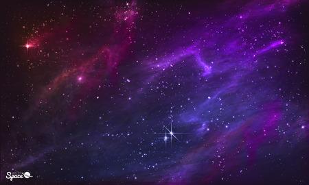 Illustration pour Starry Nebula. Colorful Outer Space background. illustration - image libre de droit