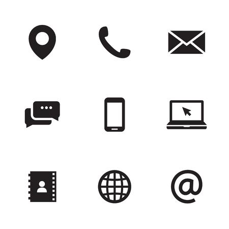 Illustration pour Contact us icons illustration - image libre de droit