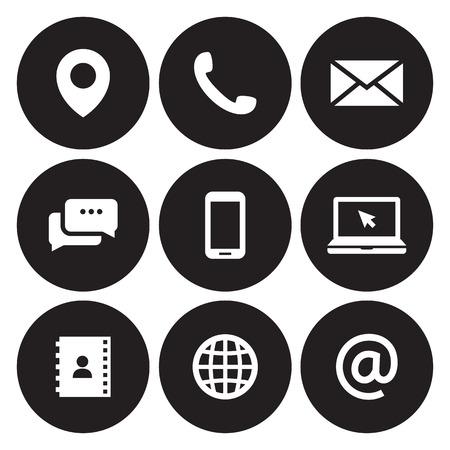 Illustration pour Contact us icons - image libre de droit