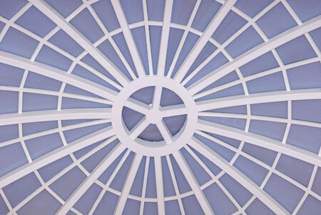 foto of details of dome steel web structure