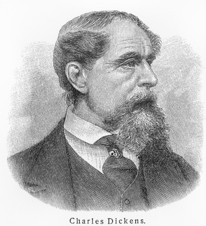 Charles Dickens ; Picture from Meyer lexicon book edition 1905-1909