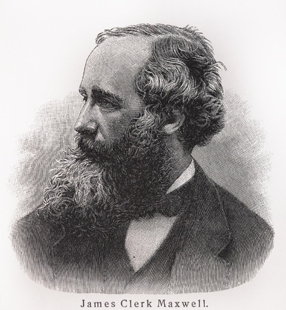 Photo pour James Clerk Maxwell - Picture from Meyers Lexicon books written in German language. Collection of 21 volumes published between 1905 and 1909.  - image libre de droit