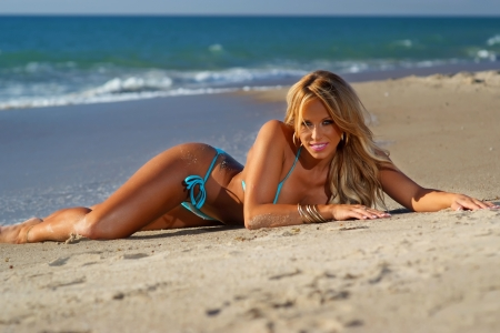 Sexy beach bikini girl