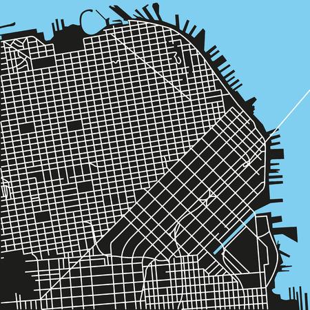Illustration pour San Francisco map - image libre de droit