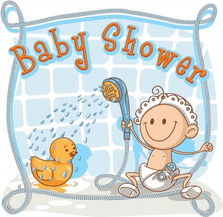 Baby Shower - Cartoon Invitation