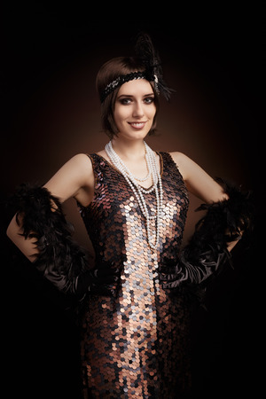 Vintage style image of a flapper girl