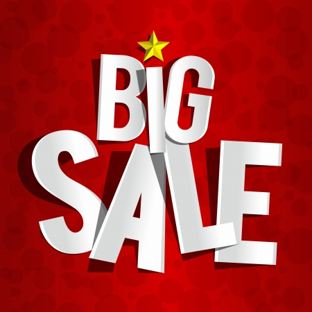 Creative Big Sale On Red Background vector illustration