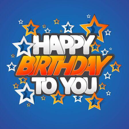 Illustration for Happy Birthday Greeting Card Vector Illustration - Royalty Free Image