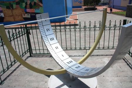 Solar clock. Ecuador