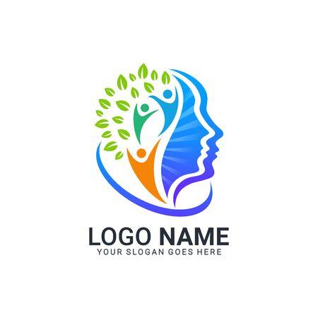 Illustration pour Abstract digital technology symbol logo design.Modern dditable logo design - image libre de droit