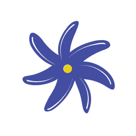 Illustration for Colorful simple flower. Vector illustration - Royalty Free Image