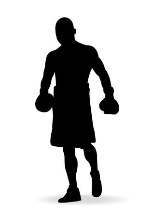 Boxing men,vector illustration