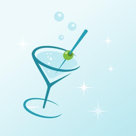 Martini Drink in Glass