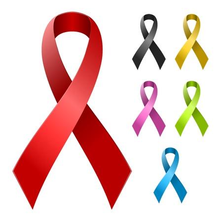 Ilustración de Ribbon in various colors ready to easy color changes - Imagen libre de derechos