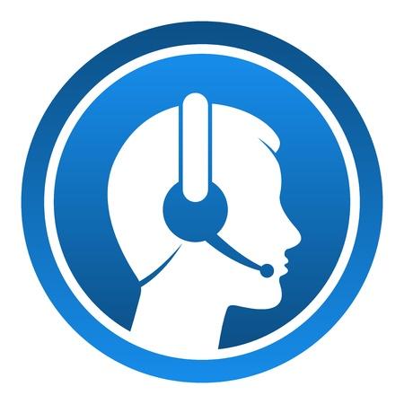 Ilustración de Headset Contact Icon - Imagen libre de derechos