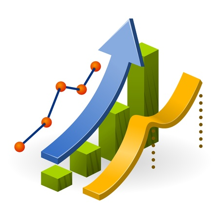 Illustration for Business Performance Chart - Royalty Free Image