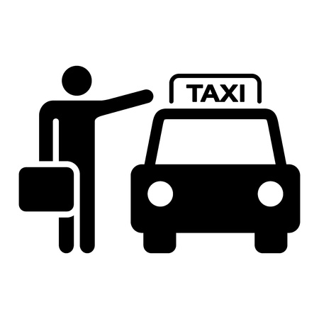 Taxi Sign Silhouette