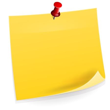 Illustration pour Sticky Note - image libre de droit
