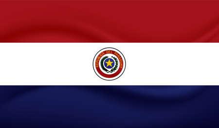 Illustration for Grunge Nicaragua flag. Vector background. - Royalty Free Image