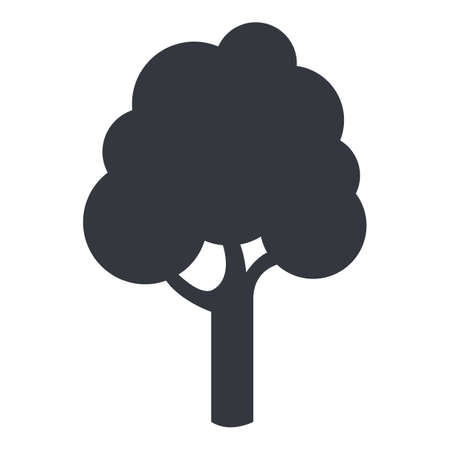 Illustration pour Vector Tree Silhouette Icon on White Background - image libre de droit