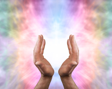 Male hands and Angelic Healing Energy