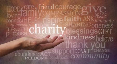 Photo pour Charity Word Wall - image libre de droit