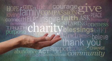 Photo pour Give to Charity Banner - image libre de droit