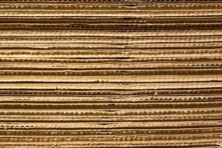 Corrugated stacked cardboard