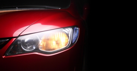 detail of a red sportscar
