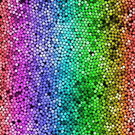 abstract shiny rainbow dots background