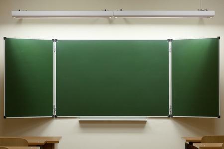 empty blackboard in the classroom