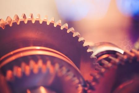 Photo pour gear wheels close-up - image libre de droit