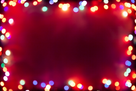 purple bokeh lights frame