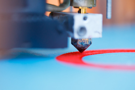 head of 3d printer in action